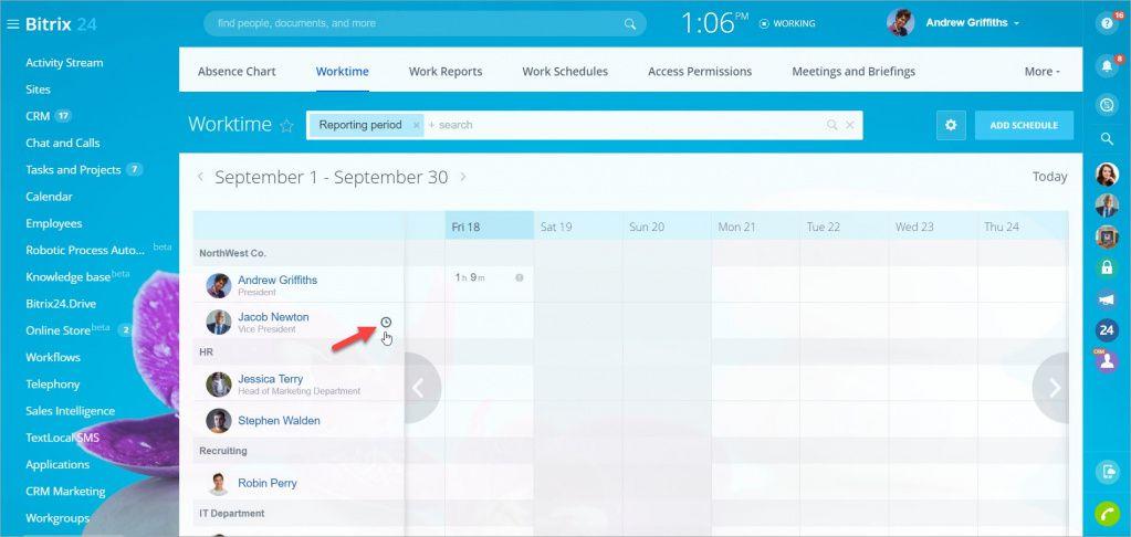 Cách tắt tùy chọn quản lý thời gian cho người dùng hoặc bộ phận cụ thể